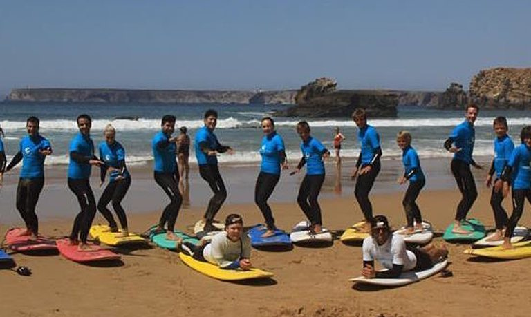Learn surfing in Sagres