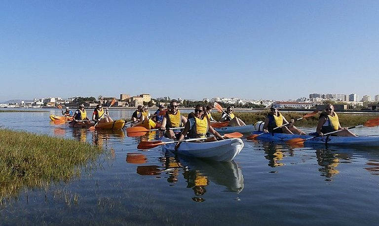 Kayaking in Faro to Ria Formosa