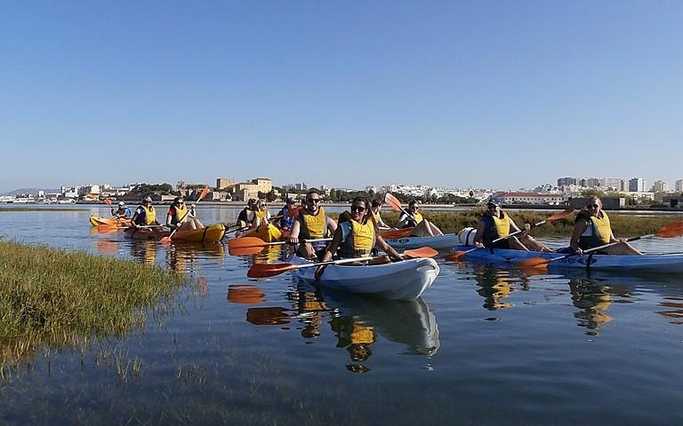 Kayaking in Faro to Ria Formosa
