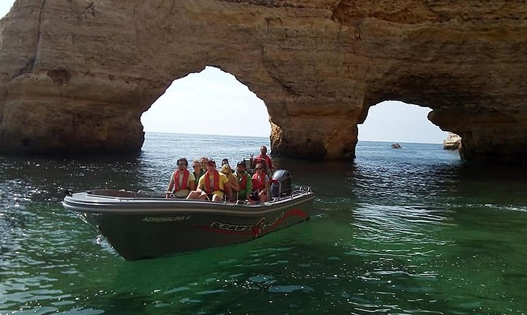 Boat ride to Benagil from Portimão with swimming