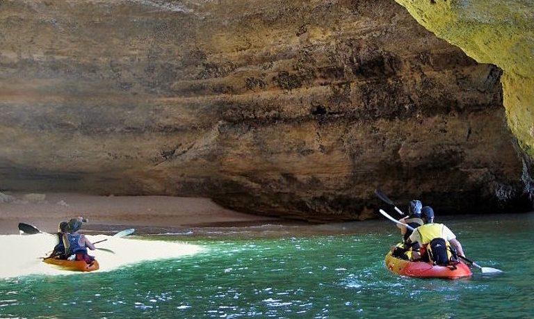 Catamaran and kayak to Benagil from Portimão