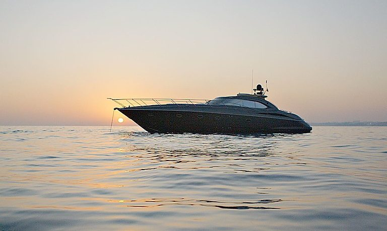 Sunset on a yacht in Vilamoura
