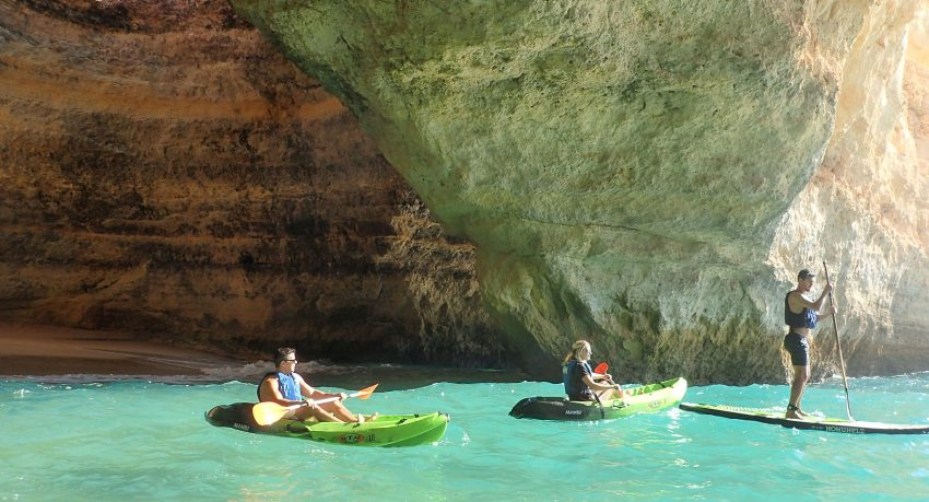 Benagil boat tour from Albufeira with Kayak or SUP
