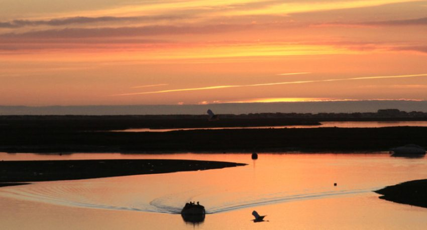 Private sunset tour in Faro on a catamaran